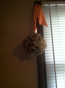 What looks like an ordinary thing- such as this bunch of hydrangea that I hung upside down to dry...