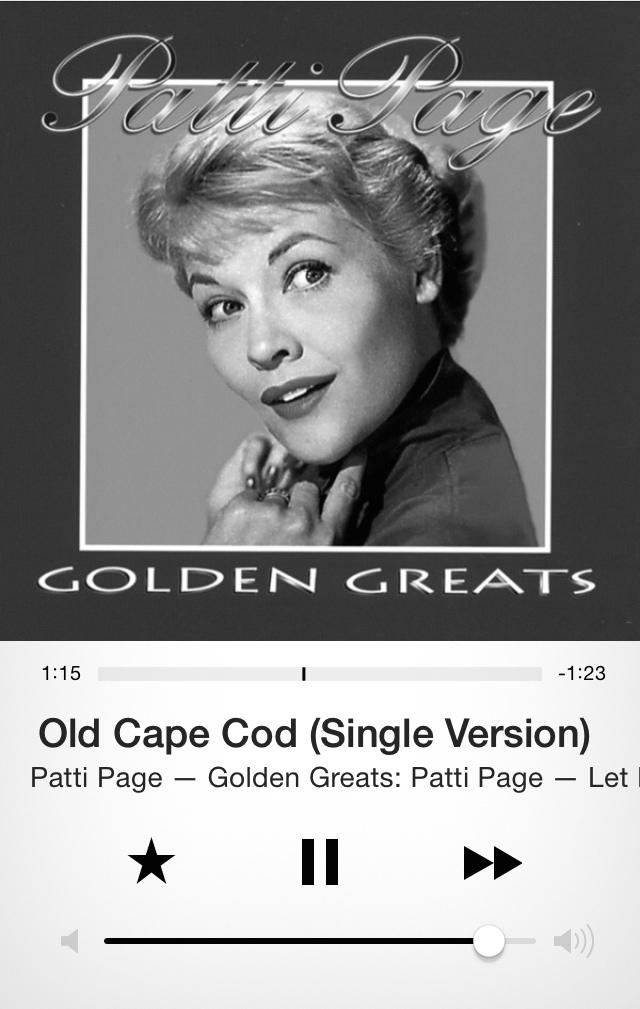 Patti Page- Old Cape Cod