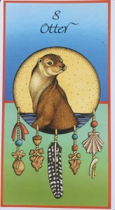 """Otter,"" from Medicine Cards by Jamie Sams & David Carson, Illustrations by Angela Werneke"