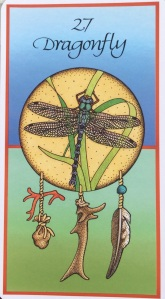 """Dragonfly, ' from Medicine Cards by Jamie Sams & David Carson, Illustrations by Angela Werneke"