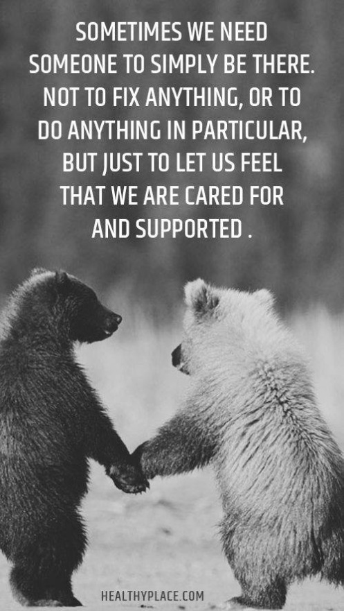 We are here to love and support one another